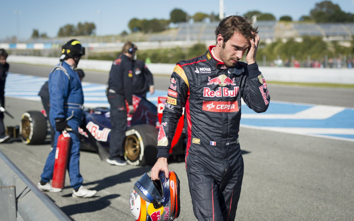 Jean-Eric Vergne testing his Torro Rosso STR8 F1 car in  Andalucia, Spain