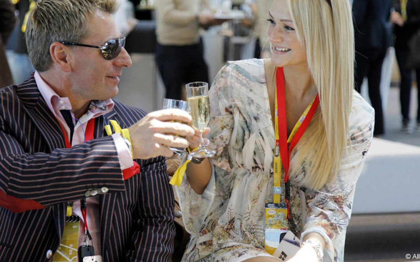 Champagne, of course, at the Monaco Grand Prix