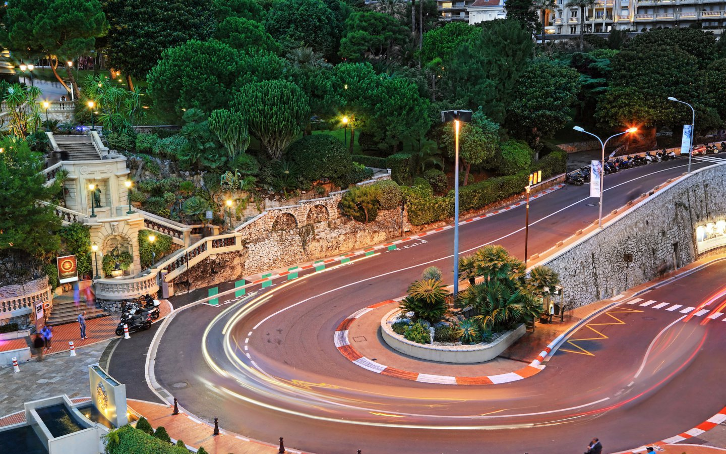 The Grand Hotel hairpin in Monte Carlo